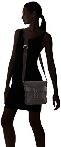 Ecco ECCO Ely Small Crossbody - Bolsa de la compra de cuero mujer Marrón (BLACK890000)