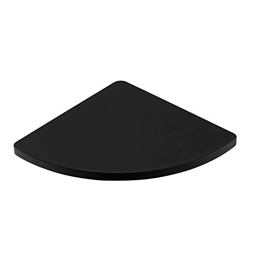 DOILIESE Matte Black Bathroom Corner Shelf Triangle Wall Shower Shelf Corner Shower Caddy,ABS Plastic Wall Mount YOUNG-4113B