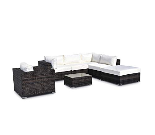 - Vilano 7- Piece Sectional - Gold. Outdoor Powder Coated Aluminum Patio Furniture