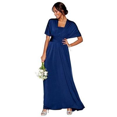 896a64cfb8b Debut Womens Navy Multiway Full Length Dress XL  Debenhams  Amazon.co.uk   Clothing
