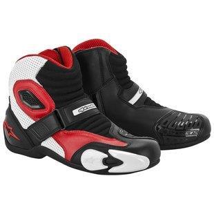 Alpinestars S-MX 1 Boots - 10.5 US / 45 Euro, Black/White/Red