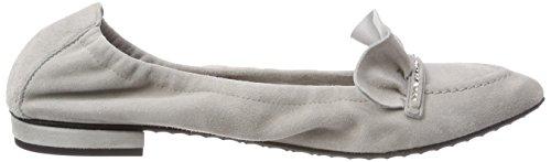 Schmenger Zapatillas cerrada 496 Kennel para punta Plateado Light de mujer con und ballet qTzqR
