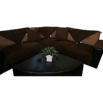Amazon.com: Sectional Sofa Cover - Corner Couch Cover ...