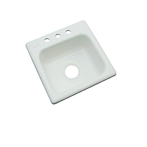 Dekor Sinks 27382 Duxbury Cast Acrylic Prep Sink-3 Hole, 16