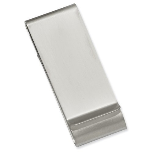 Steel Money Clip Satin Double Stainless Stainless Kelly Kelly Fold Waters Waters CxXzw7Xq