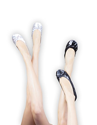 Ballerina2Go , Ballerines pour femme Argent - Argent