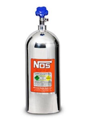 NOS 14745-PNOS Polished Aluminum 10-Pound Nitrous Bottle