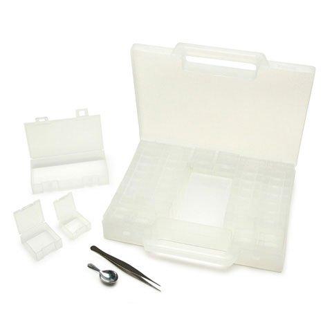 Bulk Buy: Darice DIY Crafts Plastic Bead Storage Case with Scoop and Tweezers 55 pieces (6-Pack) 1157-10 by Darice