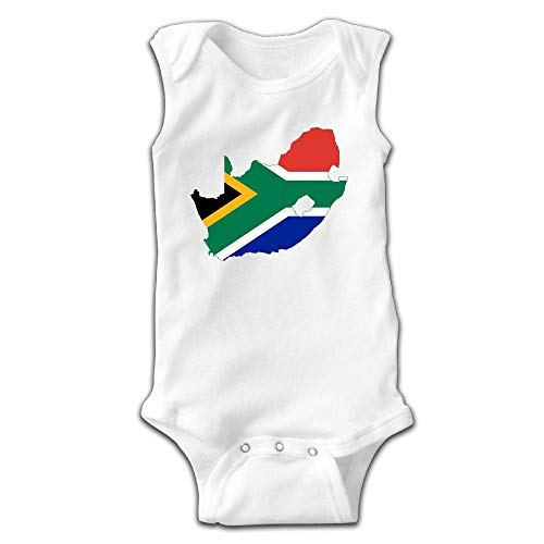 MMSSsJQ6 South Africa Flag Map Infant Baby Boys Girls Crawling Suit Sleeveless Onesie Romper Jumpsuit White by MMSSsJQ6