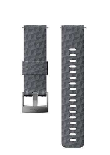Suunto Watch Strap, 24mm, Silicone, Graphite Gray- Explore, M: 130-230 mm