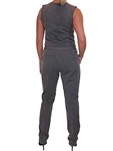 Chaleco Forrado Traje 38 Marga Lavable Y 48 Completamente Ice Pantalones Gris H5qO1