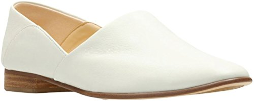 CLARKS Womens Pure Tone Loafer White Leather very cheap cheap online ebay cheap online with paypal online buy cheap shop for uGvHLgZ7WB