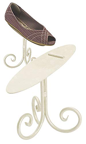 Boutique Ivory Shoe Display Stand - 6