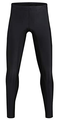 Dovio UPF 50+ Kid's Active Leggings Swim Tights for Boys & Girls - Sun Protective(DOK501BLACK-6)