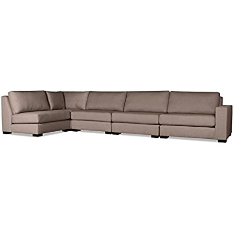 South Cone Home TRBC UL3 BROWN Tribeca Modular Sectional Brown