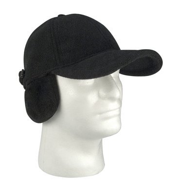 Rothco Low Profile Cap/Earflaps/Fleece, Black