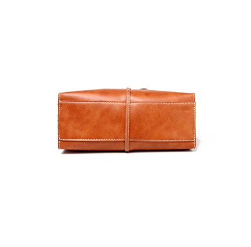 Capacity For Women Hand Brown Genuine Bag Bag Fashion KING Large Shopping Simple Leather 301222Cm Bags MIMI Shoulder Durable tqvHn