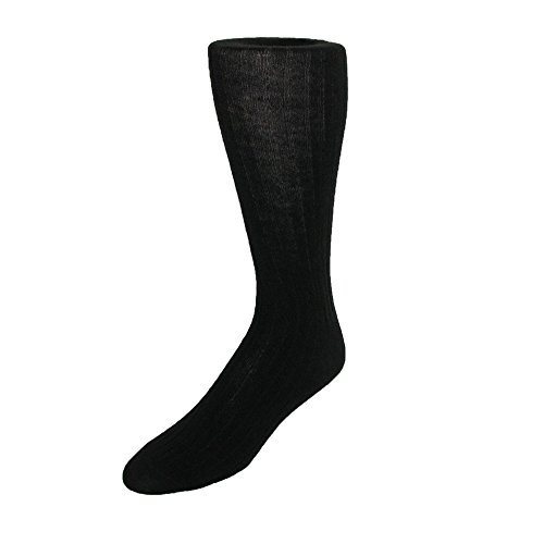 ECCO Men's Merino Wool Dress Sock,Black,10-13 (Shoe Size 6-12.5) from ECCO