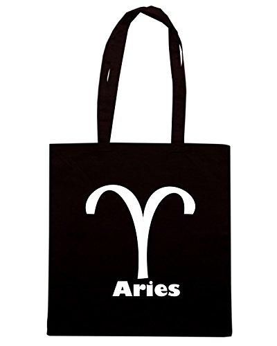 T-Shirtshock - Bolsa para la compra T0210 ARIES ariete religioni celtic Negro