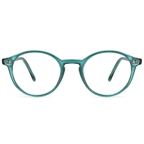 TIJN Blue Light Blocking Glasses Men Women Vintage Thick Round Rim Frame Eyeglasses ()