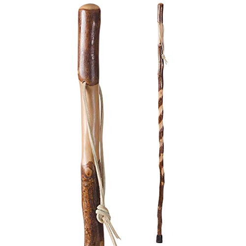 Hiking Walking Trekking Stick – Handcrafted Wooden Walking Hiking Stick – Made in the USA by Brazos – Twisted Sweet Gum – 58 inches