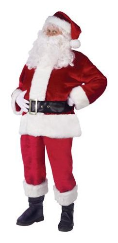 Fun World Costumes Men's Adult Pub Crawl Santa Suit, Red/White, One Size