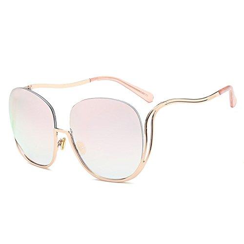 Mujeres G De Grandes Gafas Marco Espejo De Medio De Moda Las Visera Individualidad Gafas KlaPe Tendencia Caja Sol I Sol Conducción Grande Gafas A1nx4wwqf