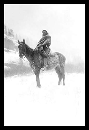 1908 Horse (ArtParisienne The Scout in Winter Crow 1908 Edward S. Curtis 24x36-inch Wall Decal)