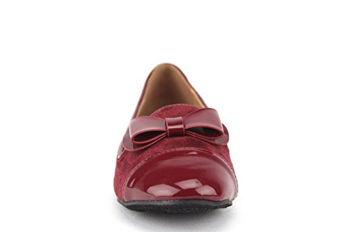 Burgundy Flats Shoes Lory Smoking On Pointy Womens Slip 2 Patent Toe Leather PfqBzwZ