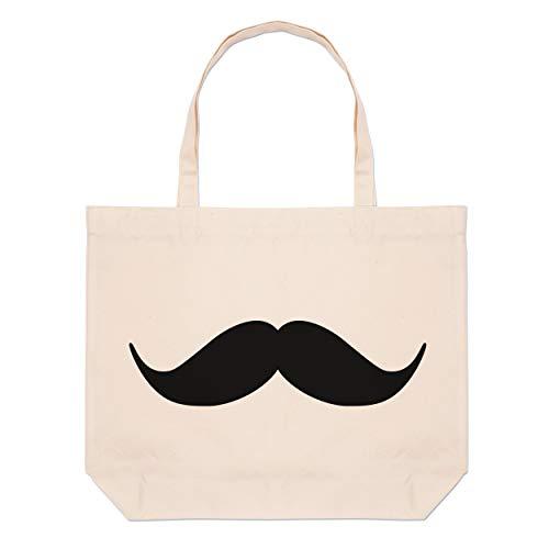 Handlebar Moustache Large Beach Tote Bag