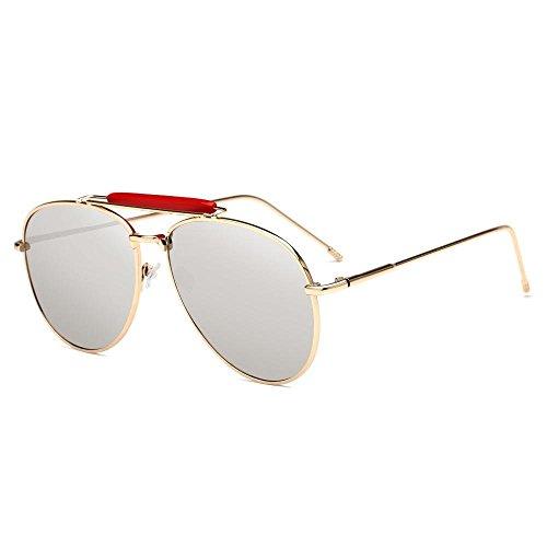 y los Axiba Sol Sol Gafas de de Gafas Brillantes de Estados creativos Europa Regalos de Metal Hombres B Color Moda Gafas de Sol Unidos Tendencia de xrxnqREHaw