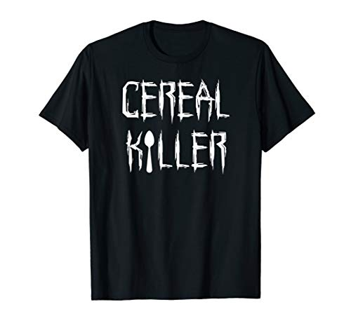 Cereal Killer Funny Spoon Serial Halloween Costume Tee Shirt ()