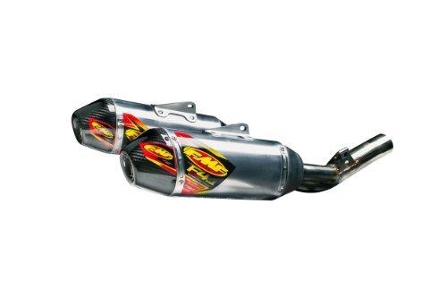 FMF Racing Factory 4.1 RCT Dual Slip-Ons - Aluminum Muffler - Carbon Fiber End Cap , Color: Natural, Material: Aluminum -