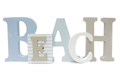 1 X Beach Word Sign - Tropical Beach Decor - Great for Office - Table Top or Wall Hanging - 12.5