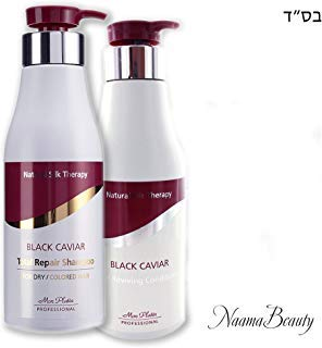 (Mon Platin Black Caviar Natural Silk Therapy Shampoo and Conditioner Set (2 items) : Total Repair Shampoo For Dry / Colored Hair & Total Reviving Conditioner (17oz/500ml each))