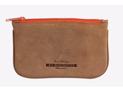 Zipper Pouch Tobacco (4th Generation Leather Pipe Tobacco Pouch ~ Choose Your Style (Zipper Hunter Brown))