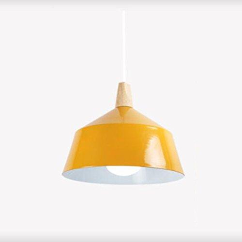 Jaune 2527 Nordic restaurant lustre bar salon salle à hommeger lumières petit lustre trois moderne simple led décoratif lustre décoratif (couleur  jaune, taille  25  27cm)