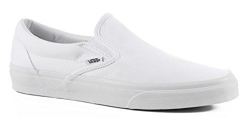 Vans Classic Slip-On, Sneakers, Unisex adulto, bianco (True White), 36 EU B(M) Donna