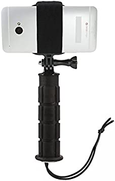 Strongest Hold on The Market. Operable with Any Phone Smartphone Helmet Mount Extension Kit with Action Mount Adapter for Smartphone