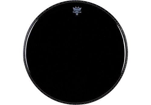 3 Black Resonant Bass Drum (Remo Powerstroke P3 Ebony Bass Drumhead, 18