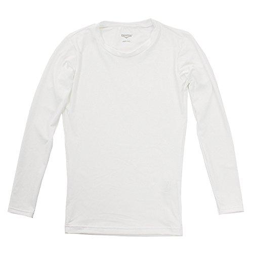 極地運河イソギンチャクデュアリグ(デュアリグ) ジュニアストレッチ長袖シャツ 742D8ES067 WHT