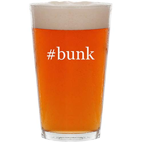 - #bunk - 16oz Hashtag Pint Beer Glass