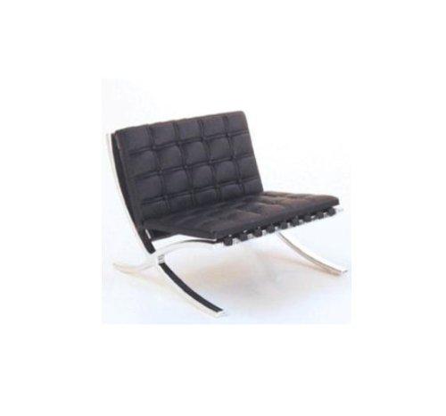 Mid Century Modern Design Miniature 1/12 Mr90 Barcelona Chair-black