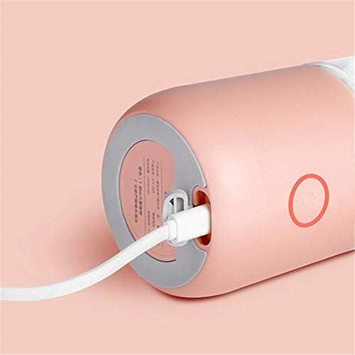 Tbaobei-Baby Mélangeur Portable Automatique Fruit Juicer Bouteille 350ml 65W USB Bricolage électrique Juicing extracteur Coupe Fruit Blender (Color : Pink, Size : One Size)