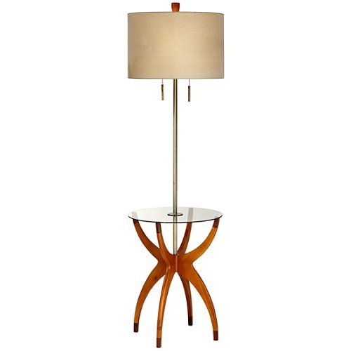 Vanguard Floor Lamp with Glass Tray Table from Universal Lighting and Decor