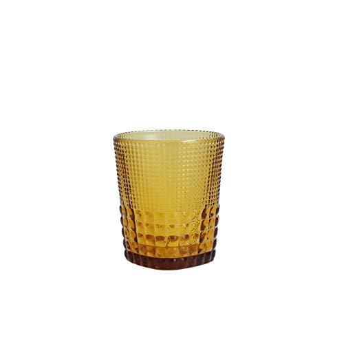 Fortessa Malcolm Double Old Fashioned Cocktail Glass, 11.5-Ounce, Amber
