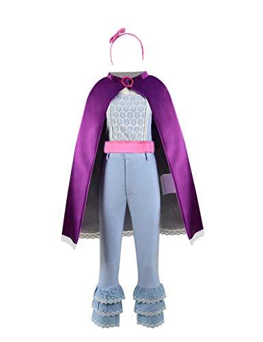 Womens Peep Bo Light Blue Suit Cape Costume Adult Halloween Cosplay (Kids 4, Fullset_1) -