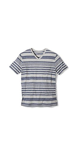 Manhattan Mist (Mossimo Supply Co Men's Striped V-Neck T-Shirt Manhattan Mist Small)