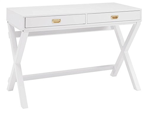 Writing Desk in White by Linon