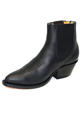 Grinders Hommes Maverick NOIR Cuir véritable Bottines Westren Cowboy Boots